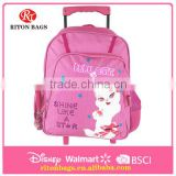Top Seller Top Quality Humanized Design Wholesale Kids Trolley Bags Backpack Bag School Bags with Wheels for Girls