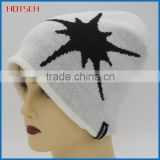 100% acrylic white wholesale cheap knit hat beanies