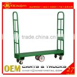 platform truck with two removable handles,3000lbs,wholesale metal shopping cart