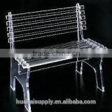 Outdoor furniture clear bench chair acrylic garden long chair