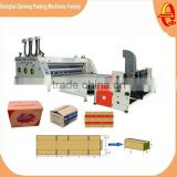 Automatic flexo printing slotting machine / corrugated cardboard carton box printer slotter