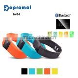 Cheap waterproof silicon usb led bracelet,tw64 smart wristband