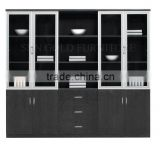 Commercial office cupboard bookshelves, wall wood showcase designs (SZ-FCB327)