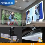 frameless slim aluminum LED lightbox with fabric printed images