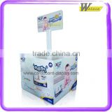 Supermarket hot sale cardboard pallet display for baby diapers