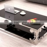 Foshan Factory Supply Natural Black Marble Stainless Steel Coffee Table For Sales