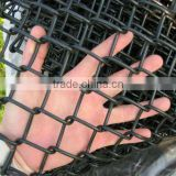 black vinyl coated chain link fence