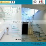Alibaba golden supplier for 11 years popular design indoor glass stair railings glass with high quality GM-C282