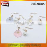 New Sea Style Jewelry Shell Pearl Starfish Earrings Fine Jewelry Wholesale