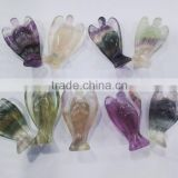 Wholesale Carved Gemstone Angels/Natural Fluorite Carving Angels/ Healing Angels Carving