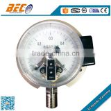 (YBX-100AD) 100mm all stainless steel bottom thread with flange type electric contact pressure gauge