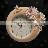Factory direct sale House Design Flower brand name wall clock/                                                                         Quality Choice