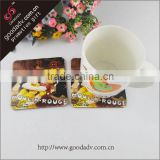 Alibaba China manufacturer promotional blank wood MDF cork board coaster