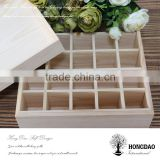 HONGDAO wooden perfume box manufacture, wooden perfume display box manufacture with 25 dividers
