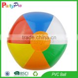 Partypro 2015 New Best Quality Products Inflatable Toy 6 Panel Custom Logo Printed Beach Ball