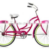NEW DESIGN COLORFUL GIRLS BEACH CRUISER BIKE 24 INCH/SINGLE SPEED /GIRLS BRIGHT GREEN COLOR BICYCLE BEACH CRUISER