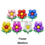 Promotional Wholesale Beautiful Flower with leaf shape Helium foil ballon for party decoration