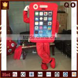 Best price outdoor advertising walking lovely mobile phone mascot costume
