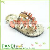 Latest design girls fashion nude beach slippers