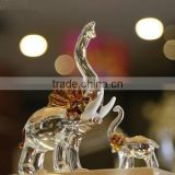 Crystal animal model of elephant for Home office decoration crystal Gift