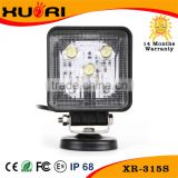 "Spot/Flood Bright light 15w Car led work light 5"" heavy machine trucks front headlight IP67 waterproof motorcycle motorbike"