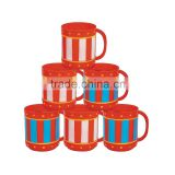 8 oz. 230ml New Custom Design Fashion Big Top Circus Carnival Plastic Mugs Party Cups with Handle Birthday Party Favours