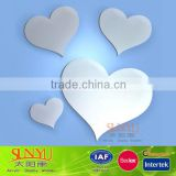 15 Shatterproof Mirror Acrylic Heart Shape Wall Mirror