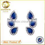 women sterling silver bridal sapphire cubic zirconia stud earrings ear cuff                                                                                                         Supplier's Choice