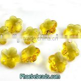 Wholesale Transparent Flower Shape Glass Bead For DIY Jewelry Trimming PMC-CB005