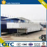 2016 CITC tri axle car transport truck trailer, mechanical suspension 3 axles car carrying trailer enclosed type
