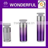 Cosmetic plastic cream bottle with pump dispenser
