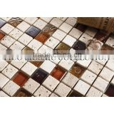 GC2316SD carrara marble tile mosaic strip glass and stone moasic calving &stone mixetd mosaic