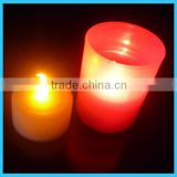 electronic led candle light with cup for home party wedding Christmas decorations and promotion gifts/mini led tea light candle