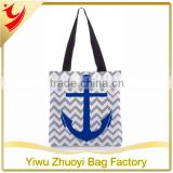 Trade assurance Polyester Canvas Shopping Tote Bag with Inner Pocket and Magnetic Closure