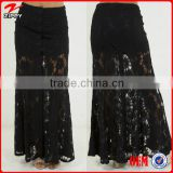 2016 New arrival boho clothing long black lace maxi skirts                                                                         Quality Choice