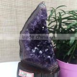 Natural Narrow Shaped Amethyst Geode Uruguay Crystal Cluster Ornaments