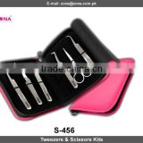 2015 new products 3D volume lashes tweezers, 0.05 eyelash extensions kit tweezers and scissors from Zona Pakistan