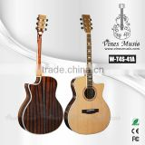 Solid cutaway acoustic guitar high quality solid A cedar top guitars (W-T4S-41A)