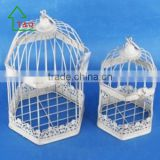 cheap wholesale decorative white antique bird cage