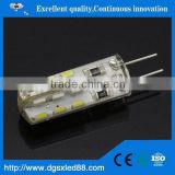 hot sale 48SMD 3014 3W silicon led g4 230v Bulb pcb light led g4 dimmable AC\DC12V 110V 220v guangdong led light
