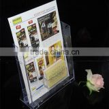 Custom wholesale acrylic brochure holder with business card holder