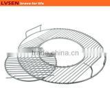 round wire sear bbq grill hinged cooking grate