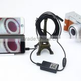 1.5M Long WIFI Endoscope 9mm Diameter Camera lens 6 LED Waterproof Borescope for iOS and Android Phone