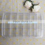 4.7*16.4*28.8CM clear plastic lucite acrylic bead organizer case container storage beads box with round 18 jewelry storage