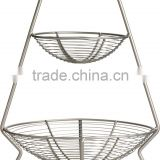 decorative china 2 tier metal fruit basket