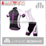 2015 hot sale high quality classic design biking wear cycling bib shorts cycling jersey sets