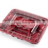Best selling Disposable food containers takeaway microwave PP food container lunch 4-compartment box