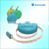 Round pu leather retractable tape measure
