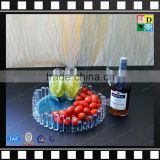 Acrylic dry fruit tray clear PMMA square tray plastic food serving plate from china manufacturer