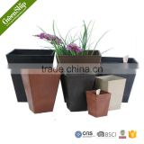 Decorative Garden Plastic Plant Pots Wholesale From Greenship/ 20 years lifetime/ lightweight/ UV protection/ eco-friendly